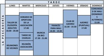 CUADRANTE LA PESCADERÍA 2015-16