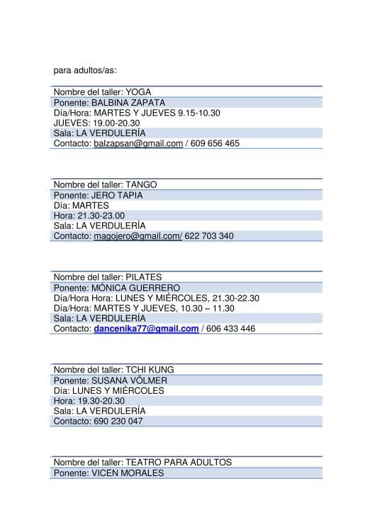 listado talleres PROVISIONAL 2017-18-2